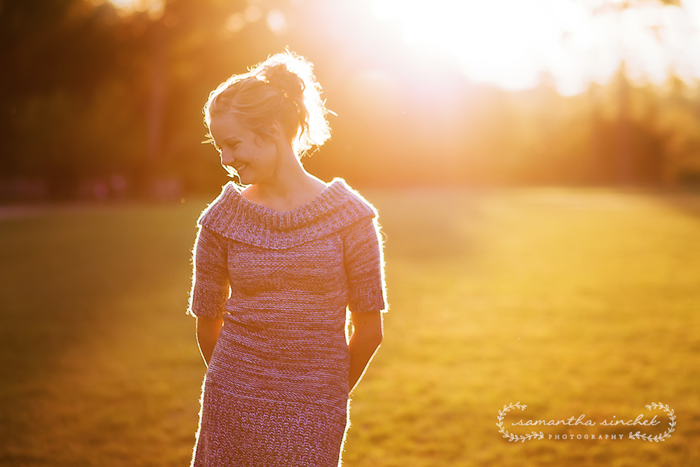 backlit photo of high school senior at ault park in cincinnati ohio