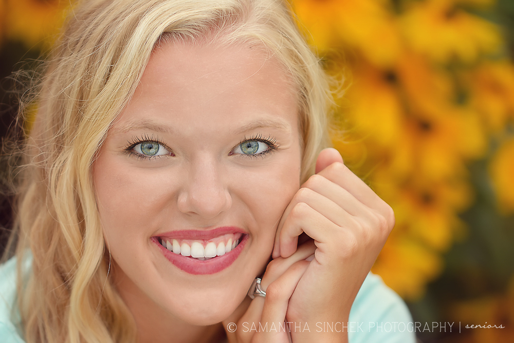 cincinnati high school senior smiles during photo session