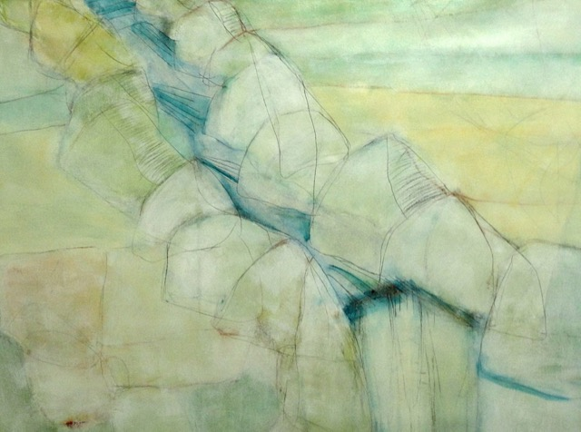 Jane Molinelli_Bare Bones Waterfall_graphite and acrylic on canvas_40 x 42 inches.jpeg
