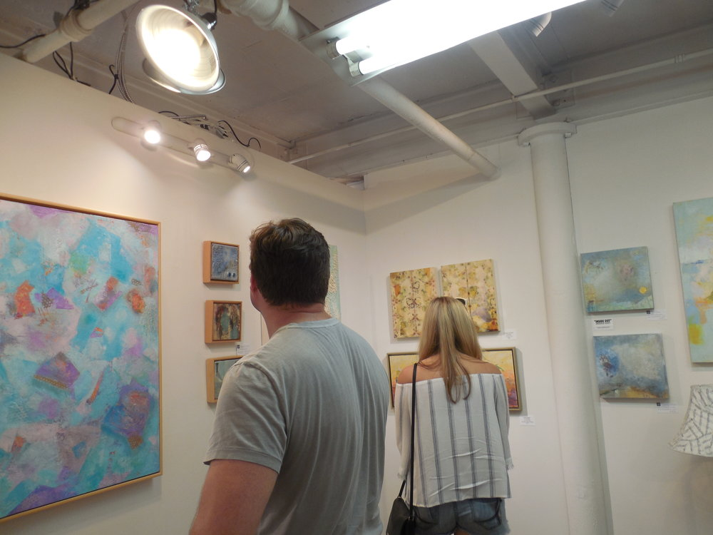Viewing art at 310 Gallery....