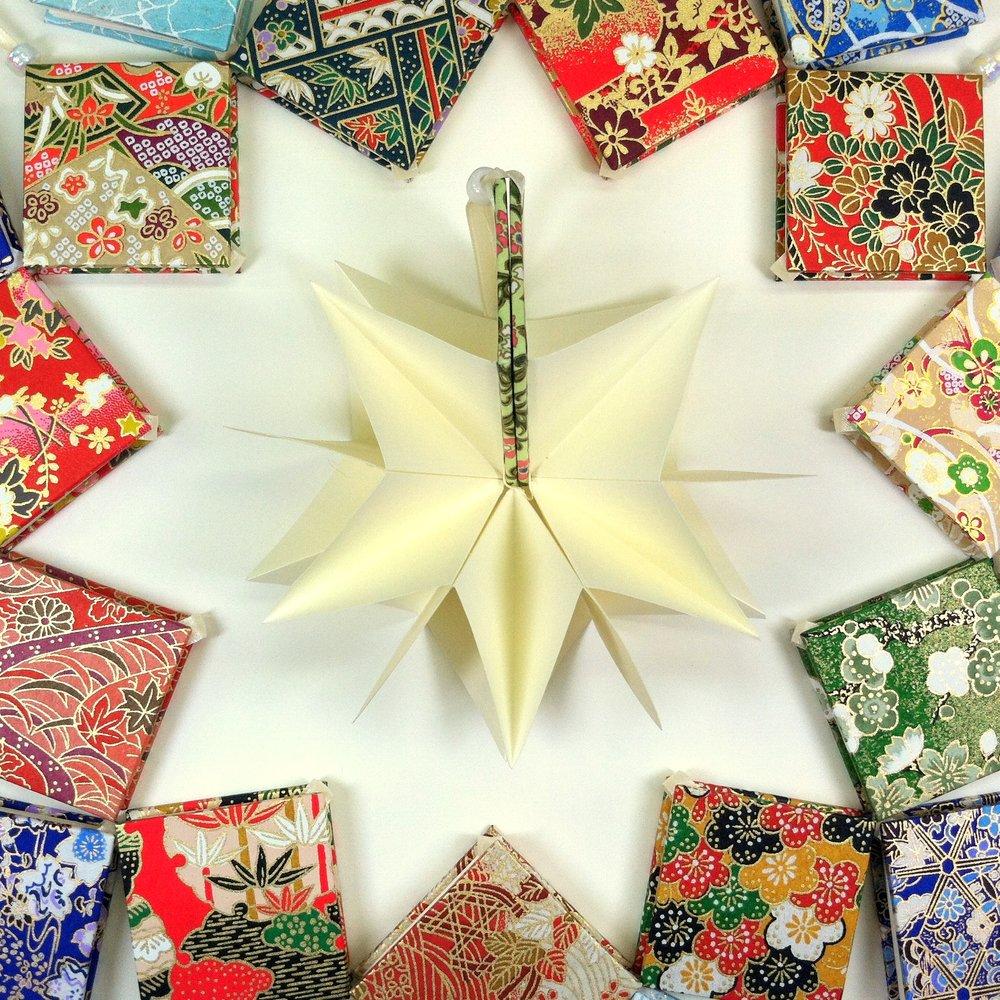 Erin Keane's star origami books