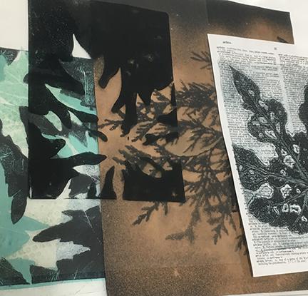 Benton_NaturePrint2day_paperbleachmylarsamples.jpg