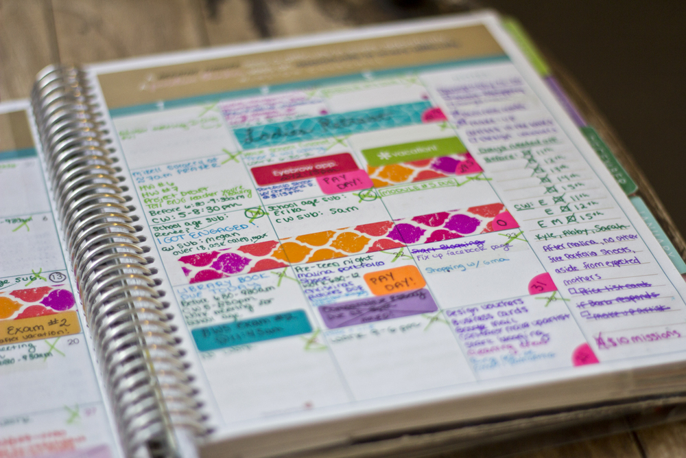 I definitely used my planner to its full potential. I used circle stickers, washi tape, and the stickers that Erin included in her planners. I still have a ton of these stickers left over, that I didn't get to use. If I got another Erin Condren, I don't even think I would bother reusing them because you get so many every year. But overall, I loved the stickers.