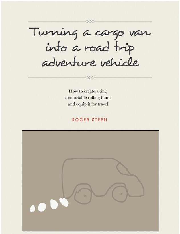 Build a vancamper by converting a cargo van