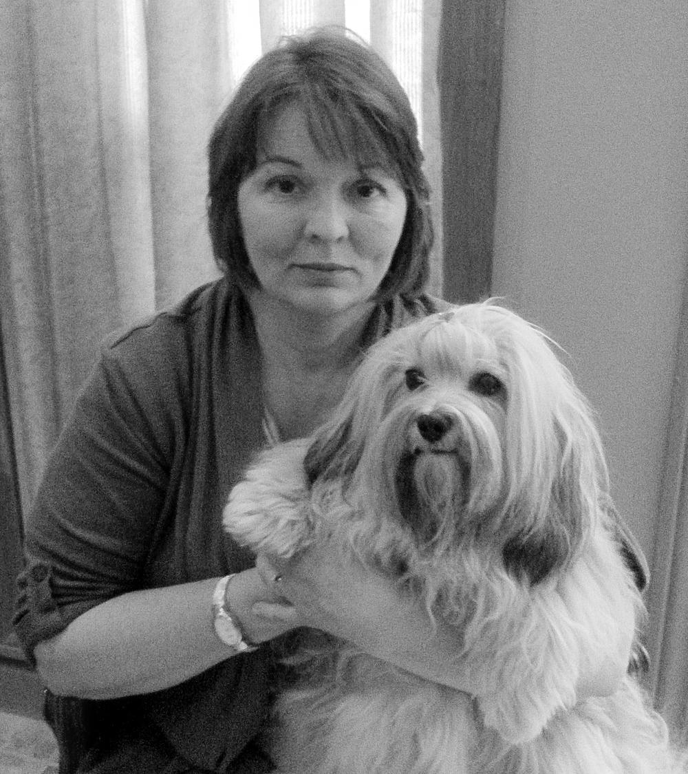 Gail Czarnecki and her heart-dog Sushi