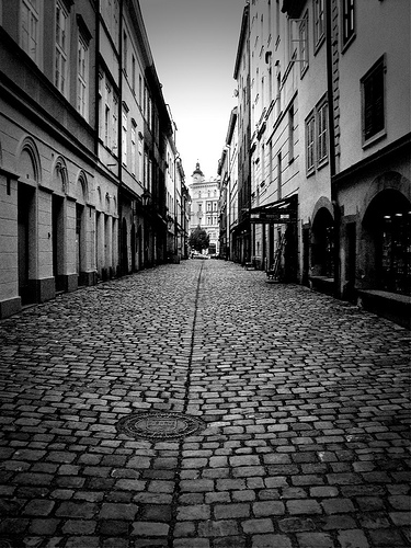 Cobbled Street, Old Quarter, Prague