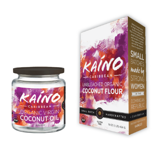 Coconut oil flour coffee packaging design jar