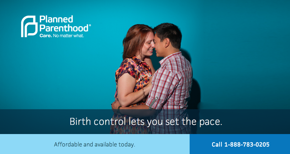 Planned Parenthood kissing campaign photography