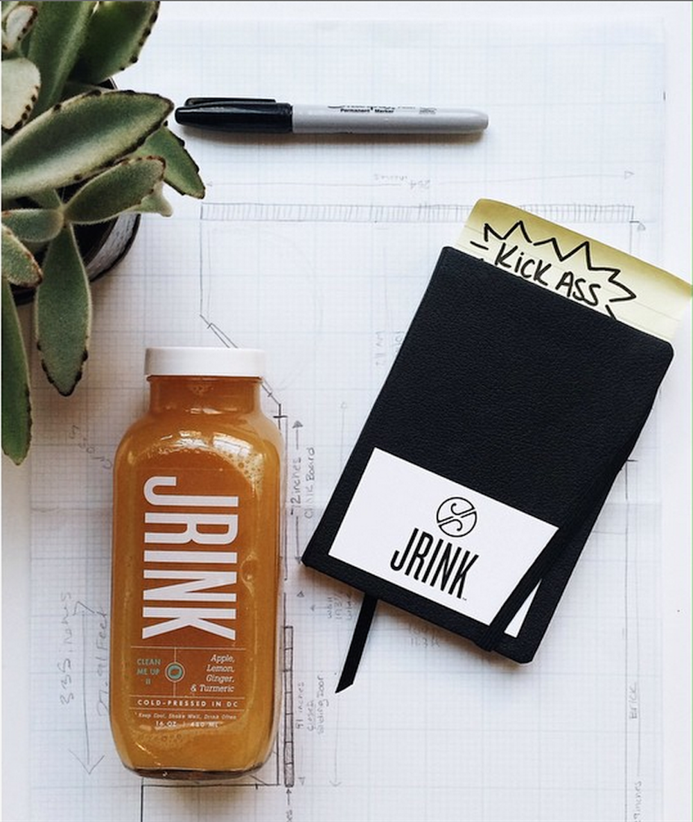 JRINK juicery juice branding and packaging