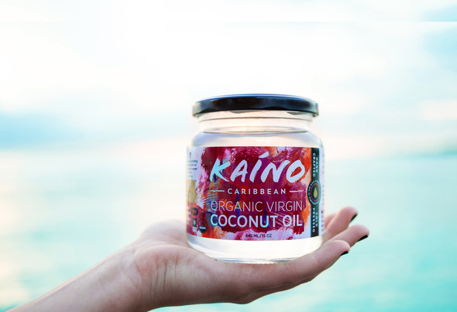 coconut oil packaging design and product photography