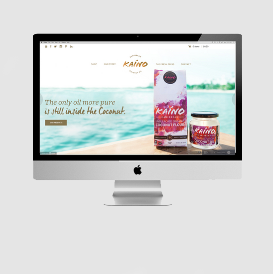 kaino coconut oil website design