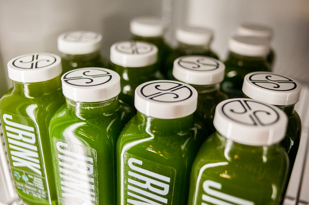 JRINK Juicery bottle refrigerator green juice