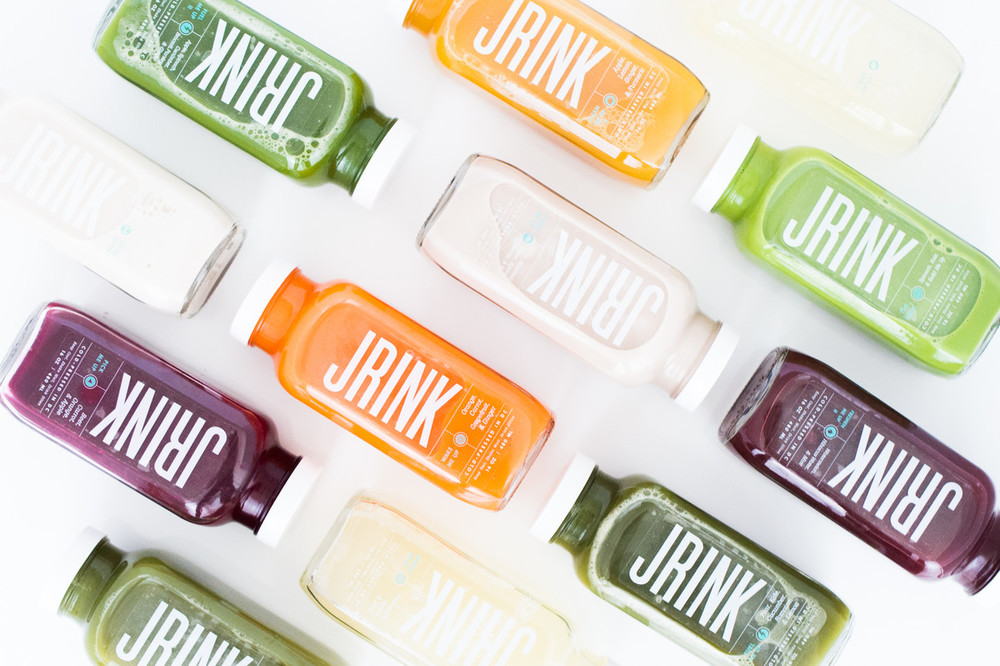 JRINK juicery packaging design juice logo
