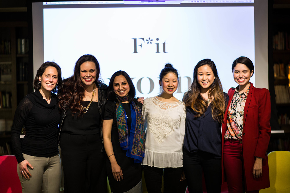 F*it speakers Sara Polon, Rachael Glaws, Komal Kushalraj, Shizu Okusa, Jennifer Ngai, and Nicole Aguirre