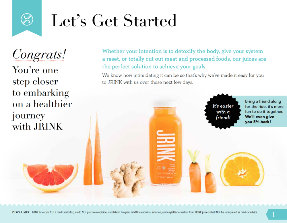 JRINK juicery packaging design reboot guide