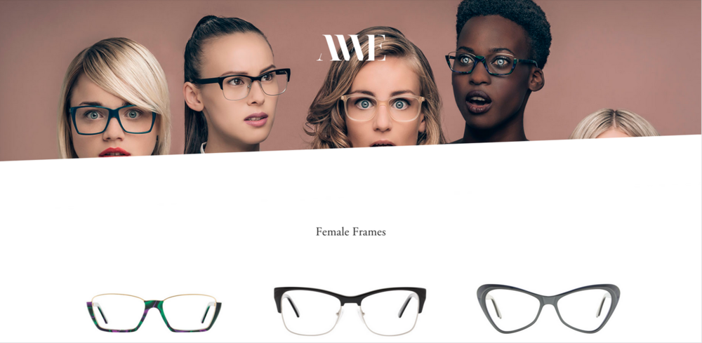best eyewear web design andy wolf