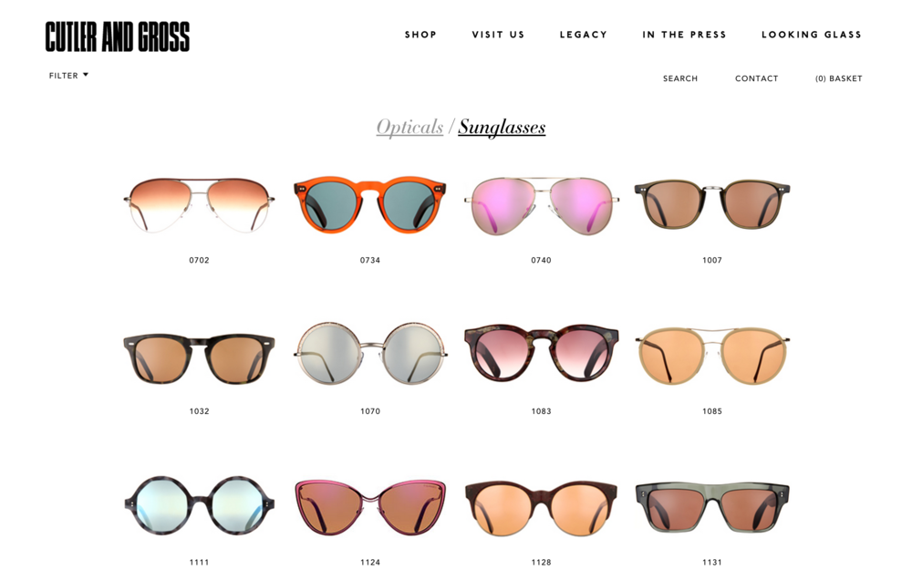 best eyewear websites frames sunglasses cutler and gross
