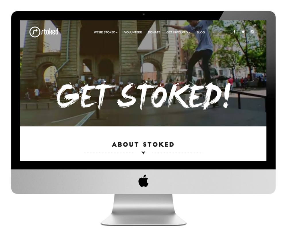 STOKED website design