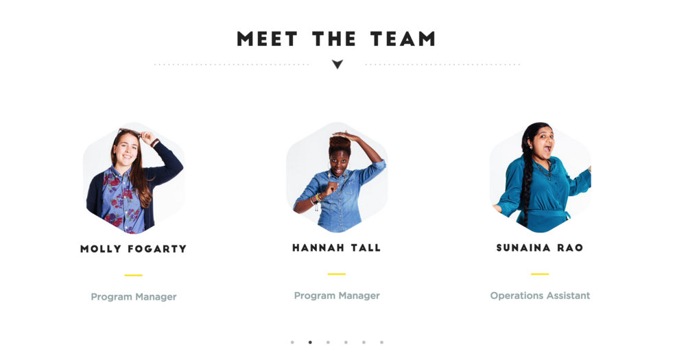 stoked web design team page