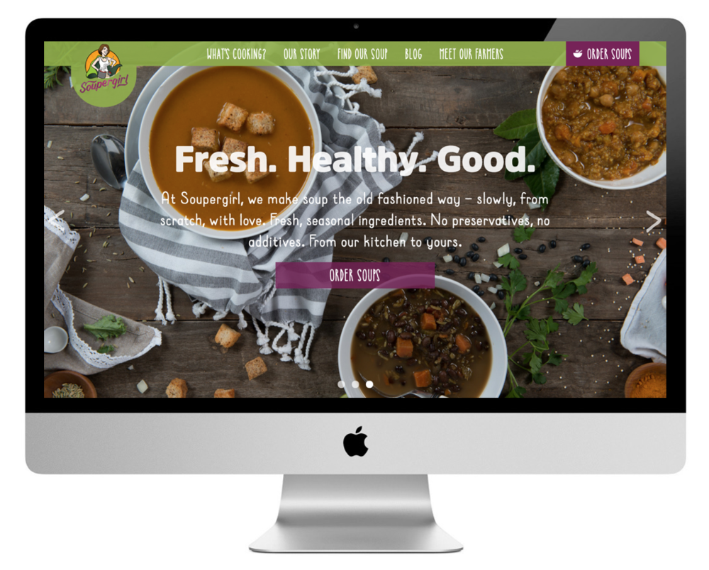 Soupergirl website design