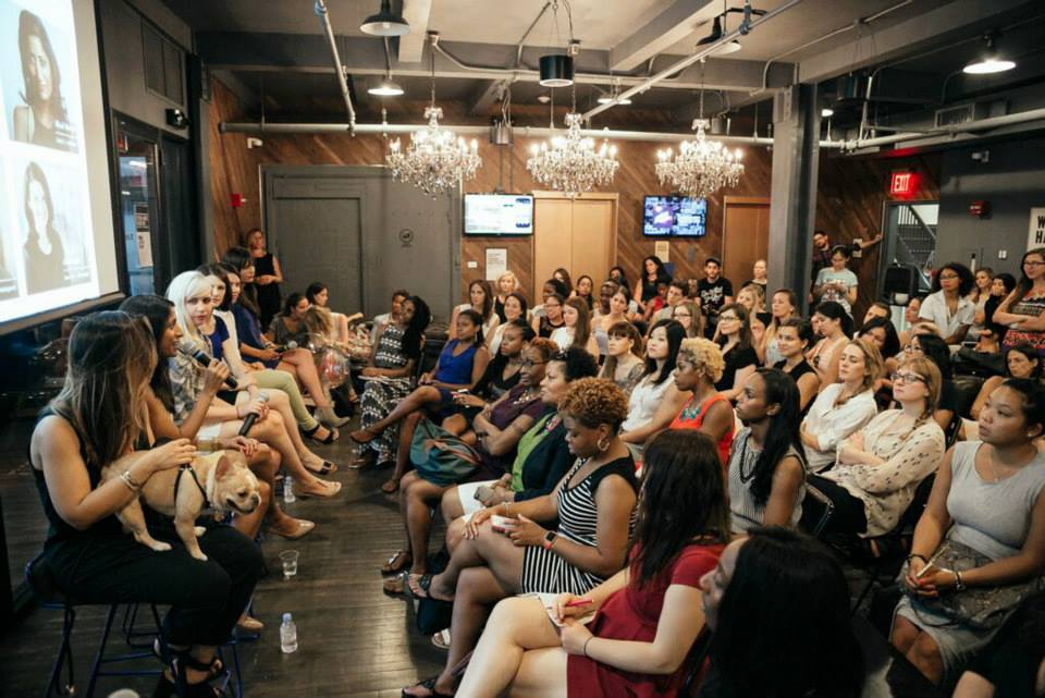 #foundedbywomen panel speaks at WeWork Park South - Photography by Lauren Kallen