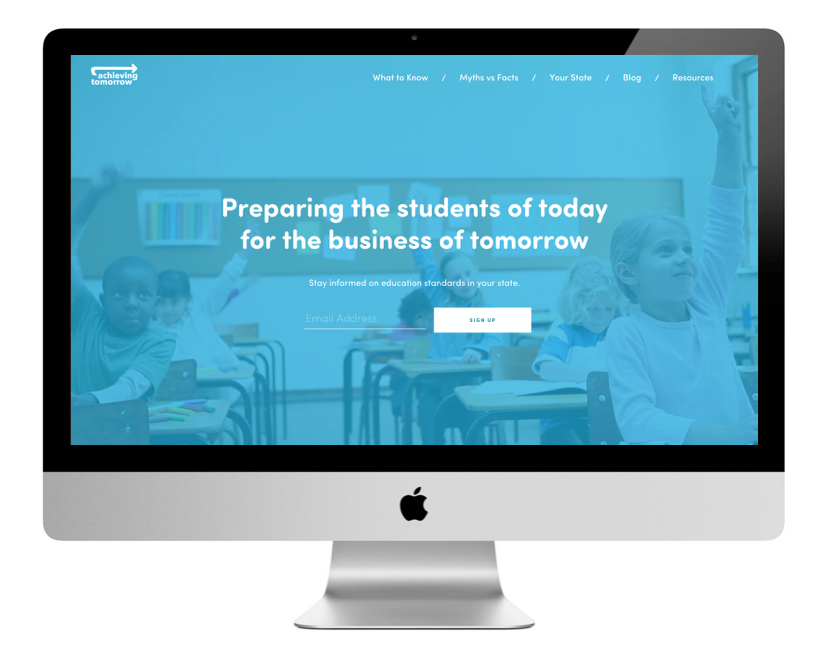 Achieving Tomorrow website design
