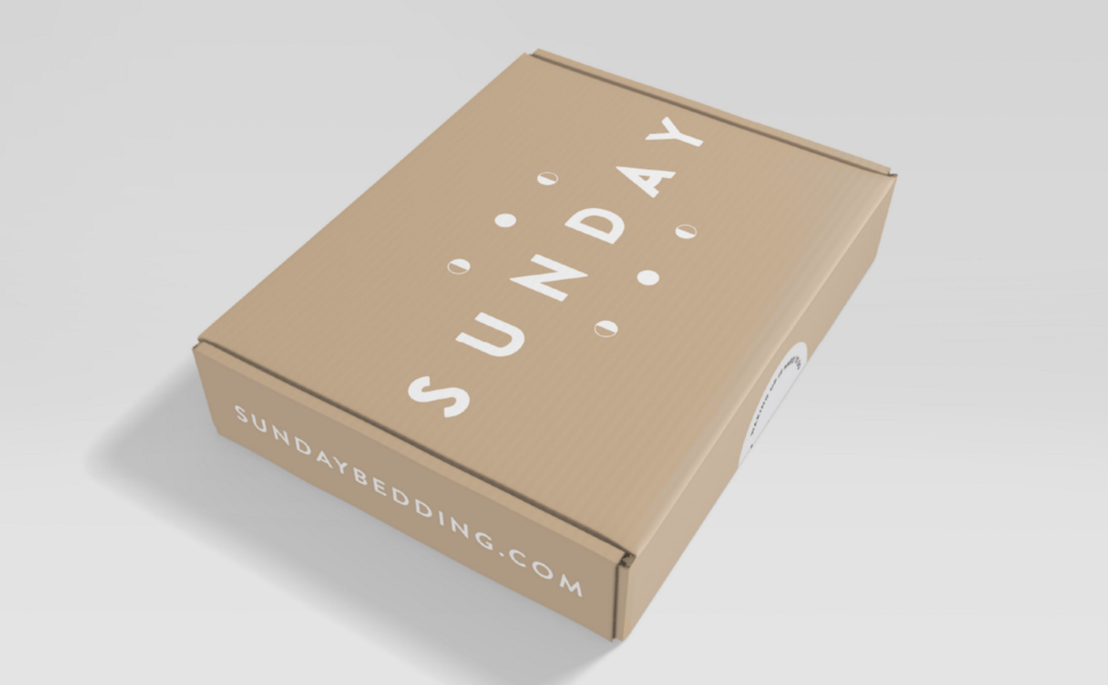 sunday sheets packaging shipping box
