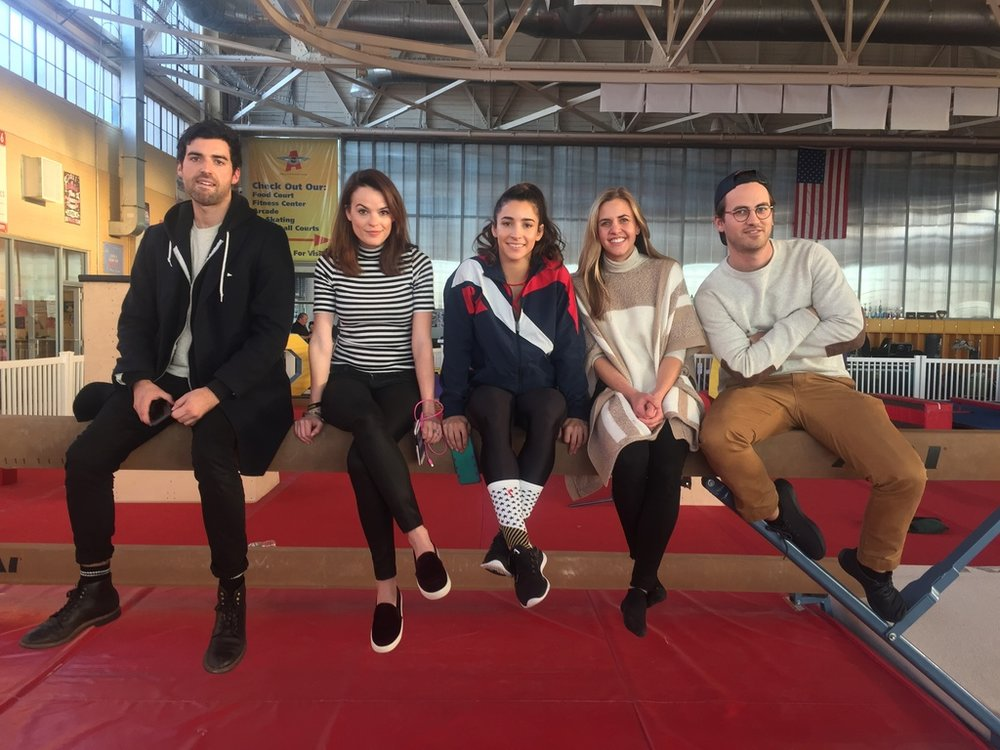 Aly Raisman, Tucker bliss, alex williamson, caroyln rush, william crouse