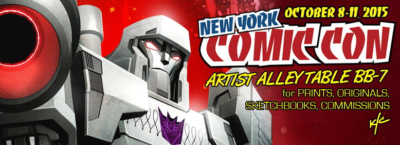 I'll be appearing at New York Comic Con, October 8-11!  I'll be in the Artist Alley, at table BB-7. I'll be selling Prints, Sketchbooks, Lots of New Original Artwork, and taking commissions at the con.  Commission Pre-orders are OPEN - contact ken@badflip.com, or visit the Art of Ken Christiansen on Facebook. Commission Pricing for NYCC:  $100 for B/W Half Figure, $150 for B/W Full Figure OR Color Half Figure, $200 Color Full Figure. I will have two new prints with me - check out these preview images!