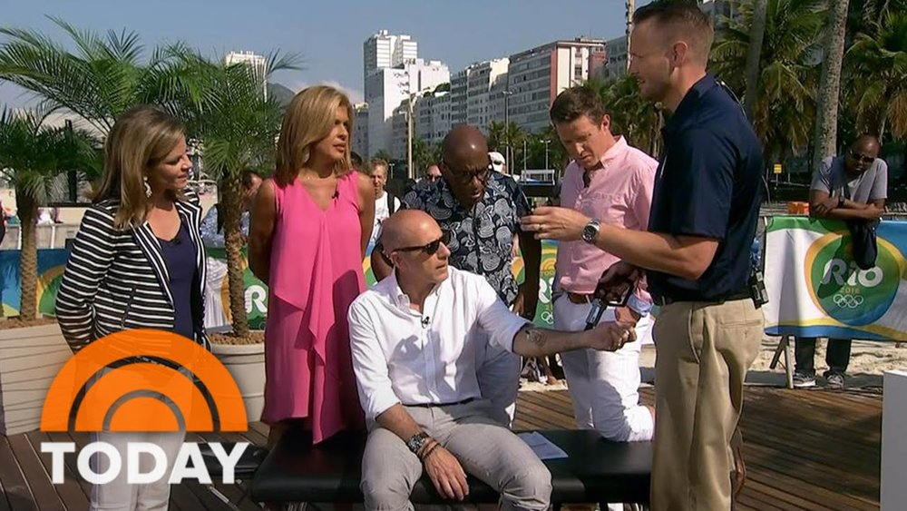 Dr. Pierce appearing on Good Morning America during the 2016 Rio Olympic Games.