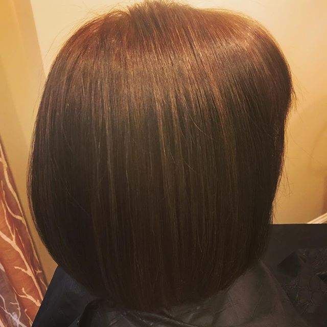 Dimension and shine #bobhaircut #atlantahairstylist #brunette