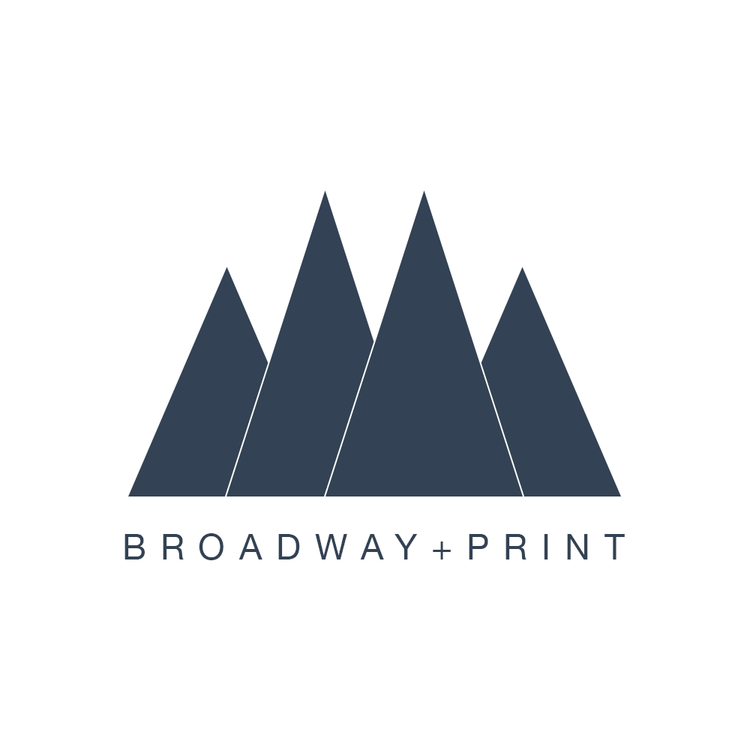 Broadway print logo business card and web design bahar creative broadway print indexg reheart Images