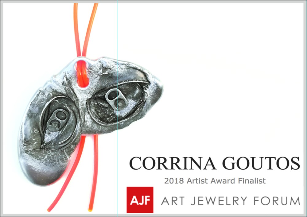 Art Jewelry Forum announces the 5 finalist for the AJF Award 2018 - Interview Corrina Goutos here
