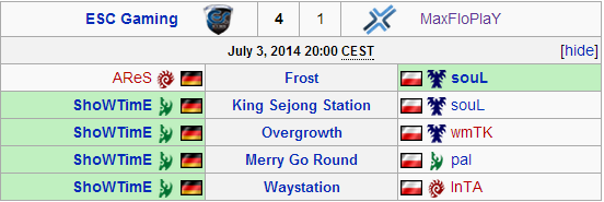 Match summary from the third SC2ITL Ro8 match.