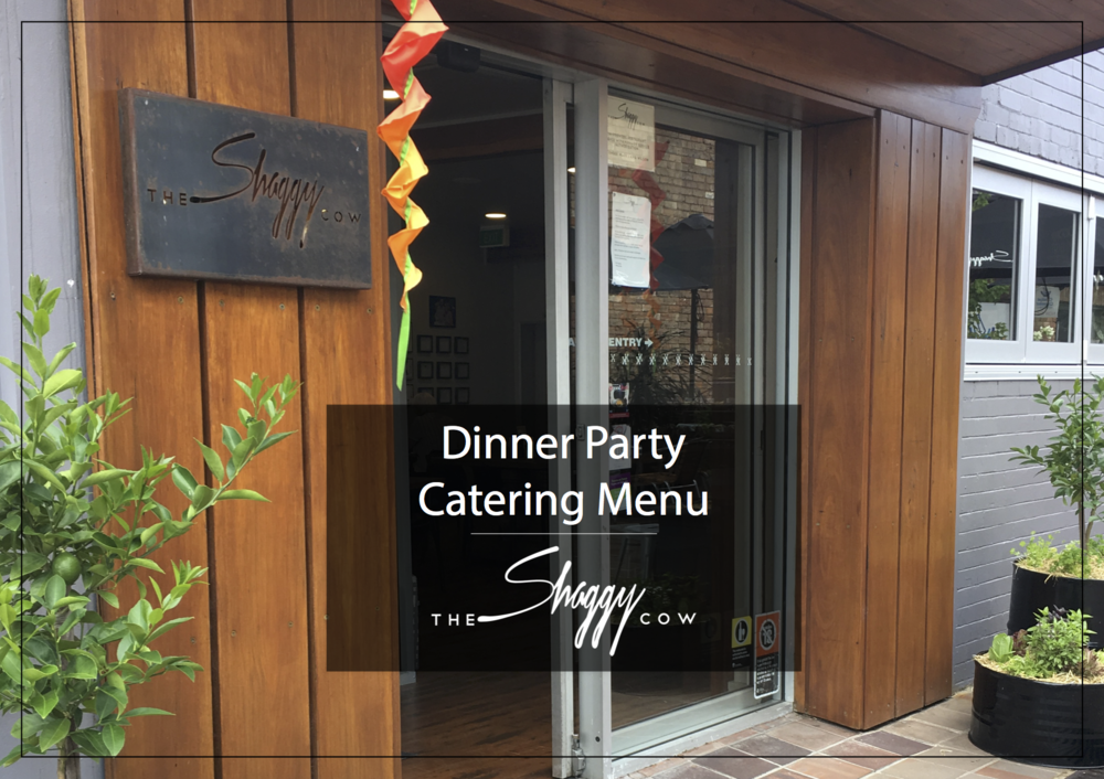 Click on the image to download an   example of the Dinner Party Catering Menu