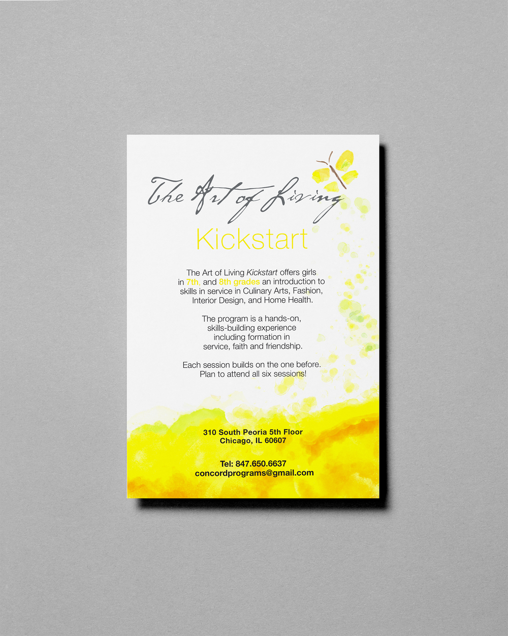 Nice Art Of Living Kickstart Flyer