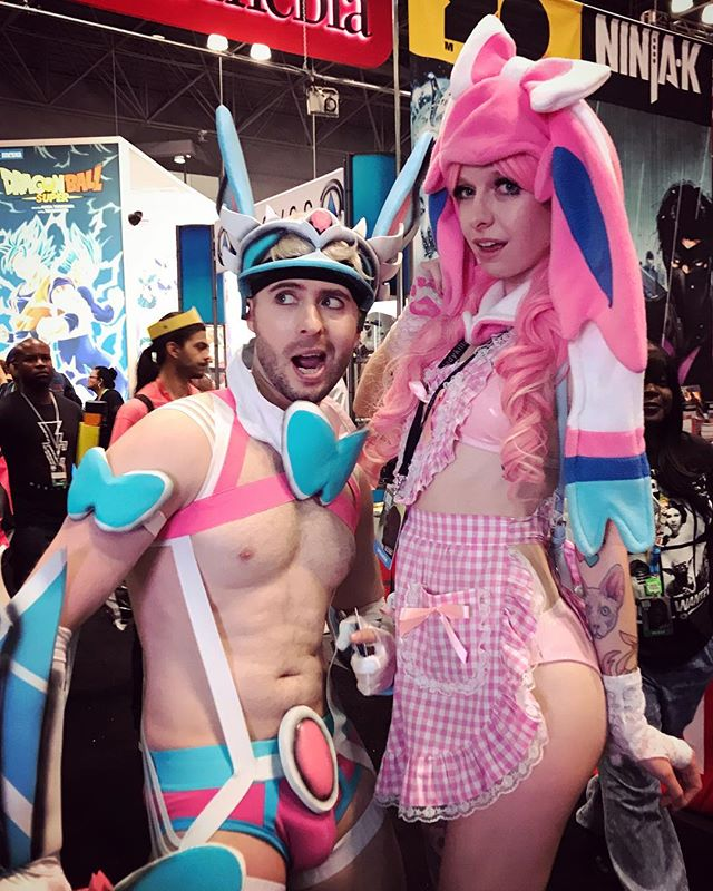 #slutty #sylveon #unite ! #pokemon #cosplay #sluttycosplay #pokemoncosplay #shiny #shinysylveon #warrior #kawaii #comicccon #nyccomiccon #comiccon2017 #nyccomiccon2017 #comicon #nyccomicon #fandom #nintendo #silly #fun #convention #nerd #gay