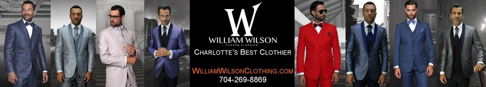 Click on banner ad to see more about William Wilson's customer clothing.