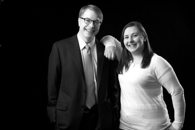 Dr. Neil Busis, chief of neurology at UPMC Shadyside Hospital, and Lauren Cantalope.