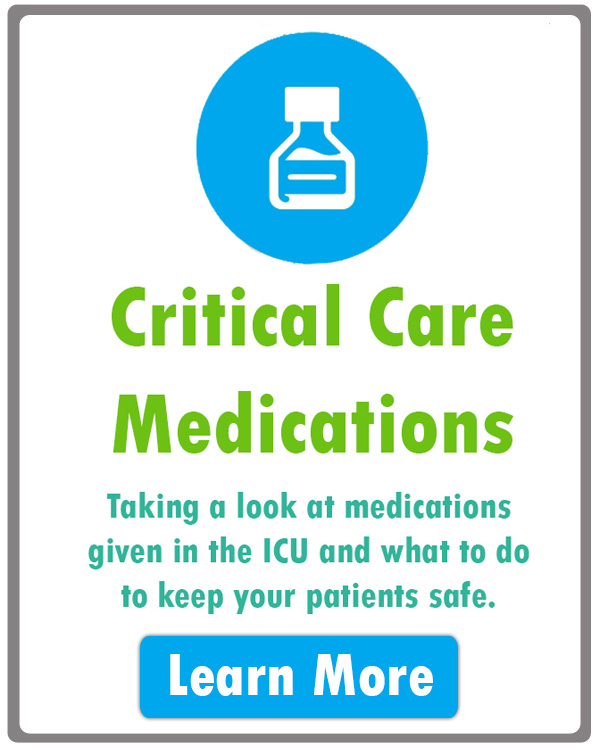 Critical Care medications