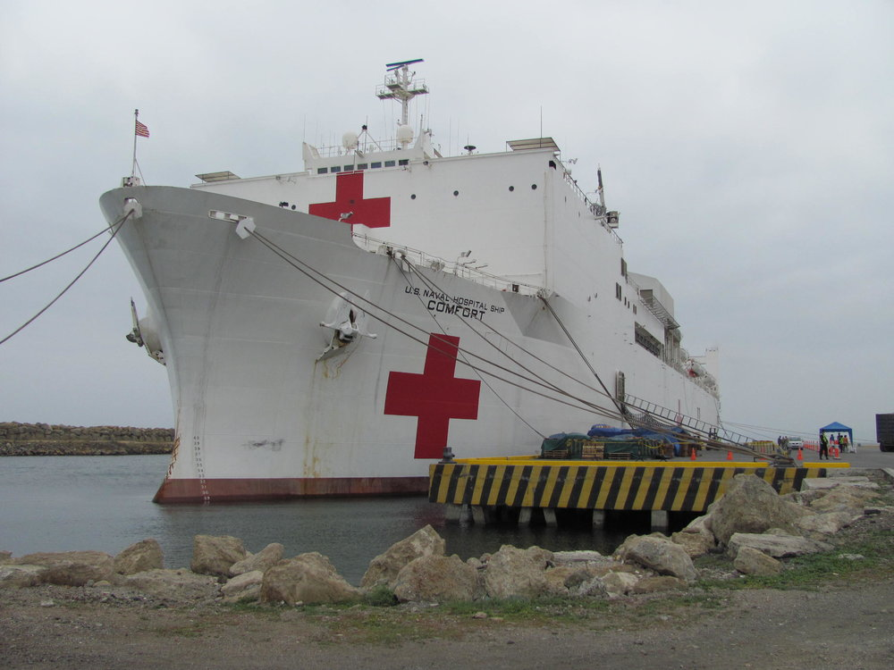 Photo credit: Mormon Newsroom. The USNS Comfort