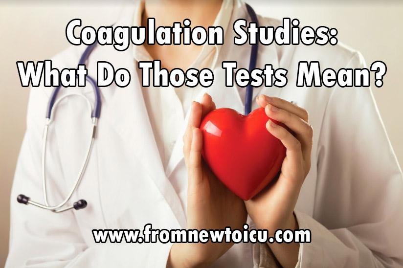 PT INR studies