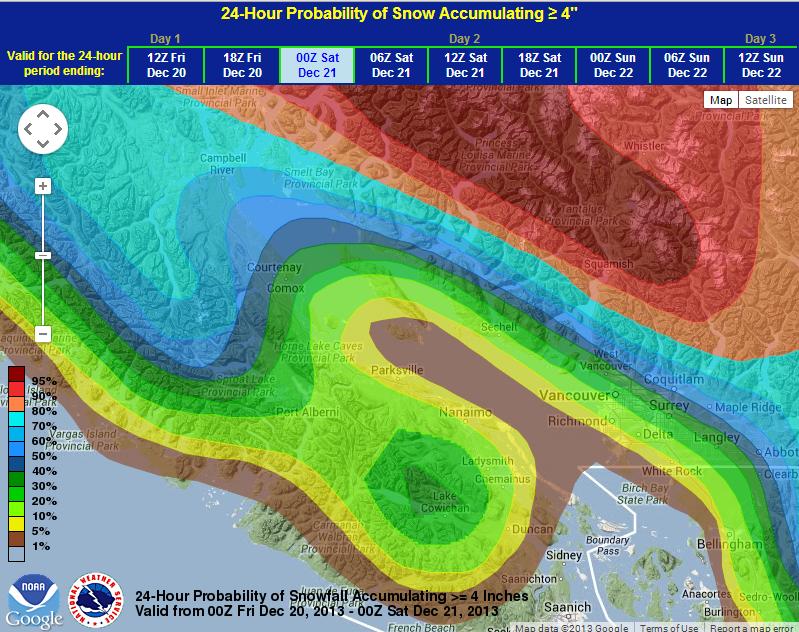 Weather Prediction Center Probabilistic Winter Precipitation Guidence Map