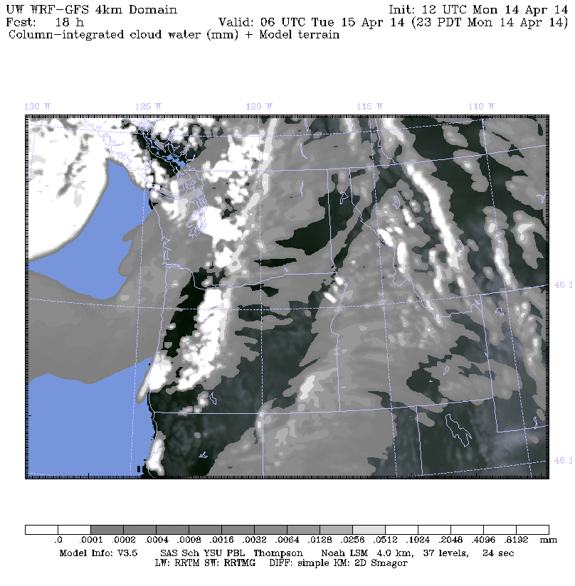 11PM cloud cover simulation