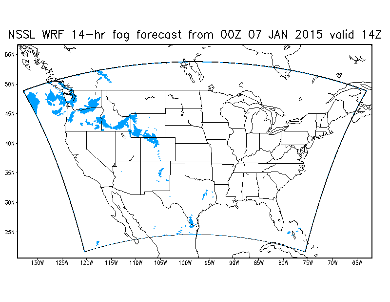 Fog forecast for early this morning, highlighting the serious threat of fog for the Pacific Northwest.