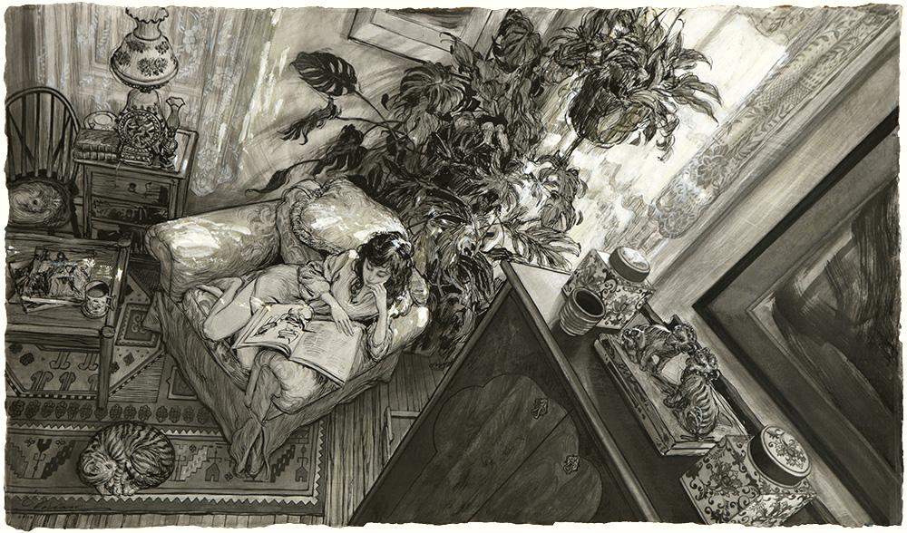 """""""Dreams of Versailles"""", 17.5""""x30"""""""