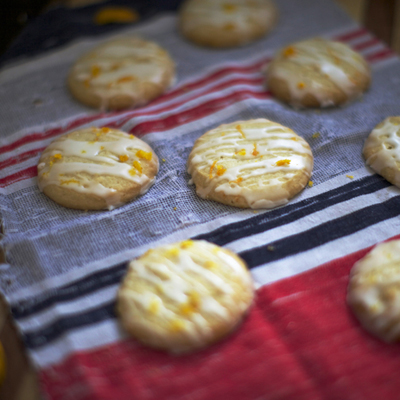 Orange Cardamom Butter Cookies