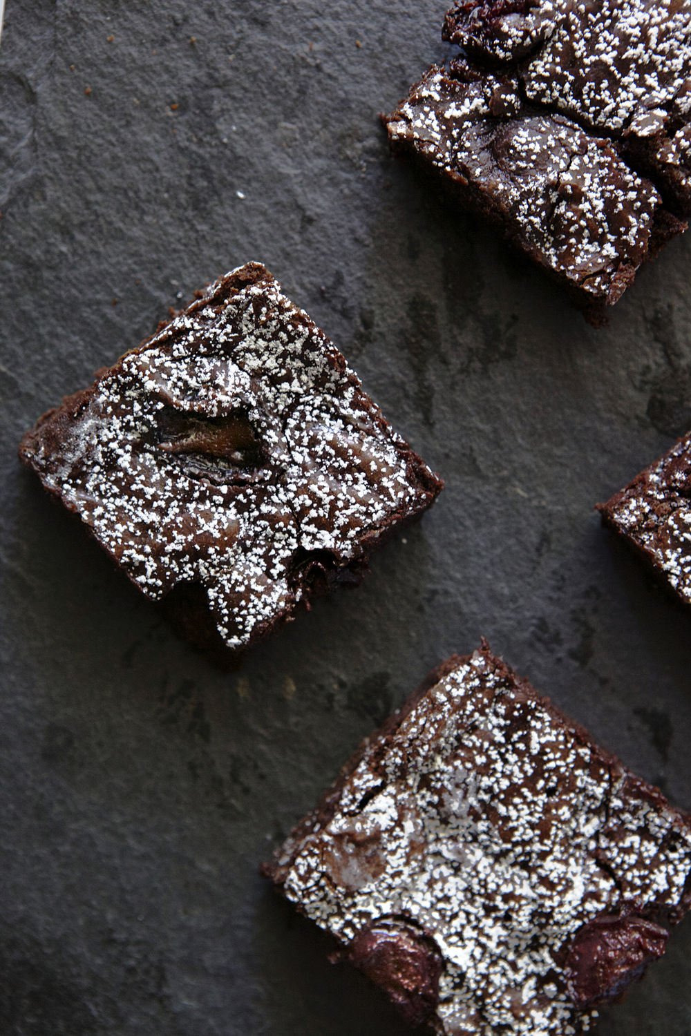 Balsamic Roasted Cherry Brownies // Glazed & Confused