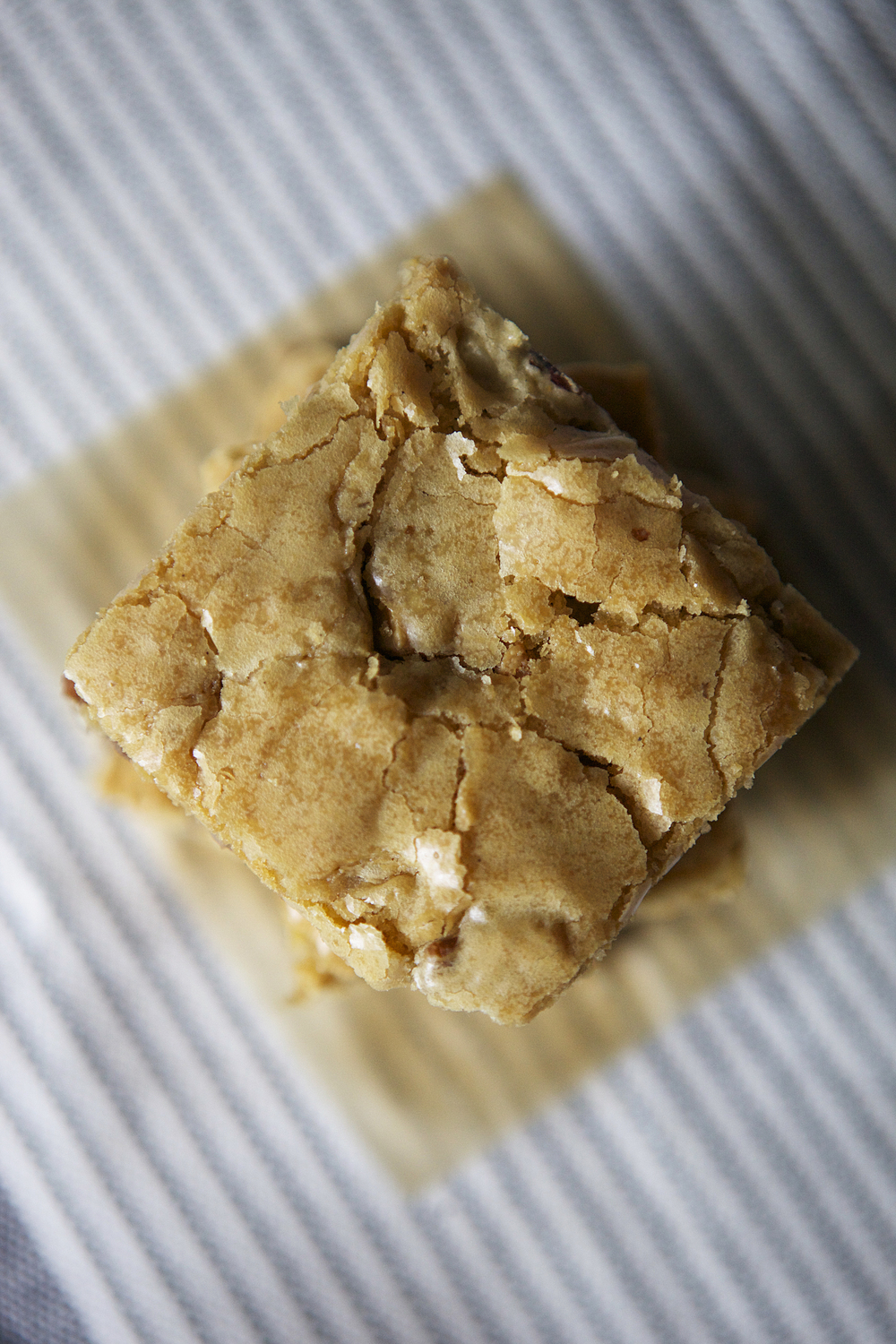 Legally Blondies: Valhrona Dulcey blonde chocolate, pecan, and caramelized white chocolate.  // Glazed & Confused