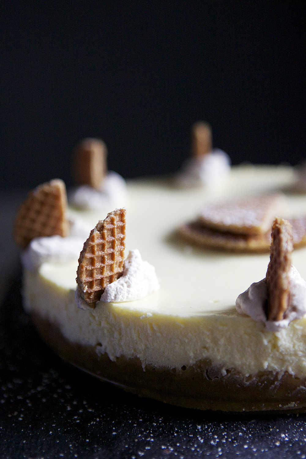 Dutch-inspired Stroopwaffel Cheesecake // Glazed & Confused